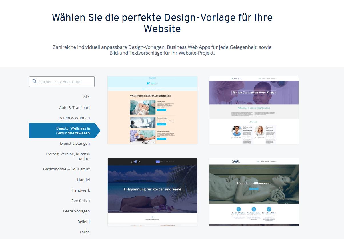 Design-Vorlagen für Steuerberater-Websites