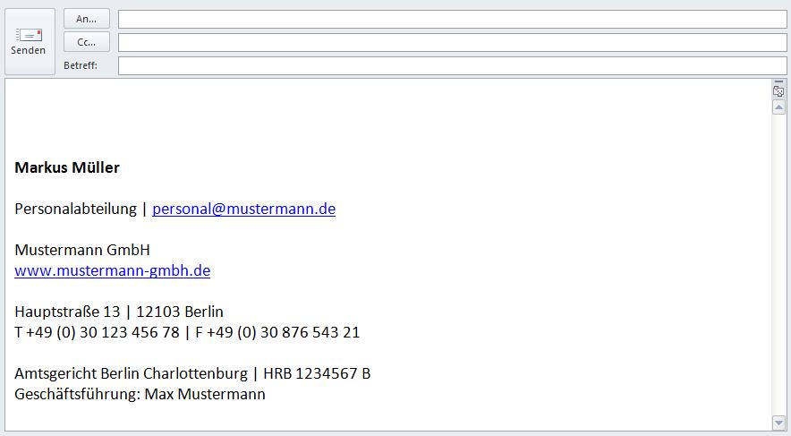 E-Mail Signatur Vorlagen | Geschäftlich und Privat mit Beispiel - 1&1