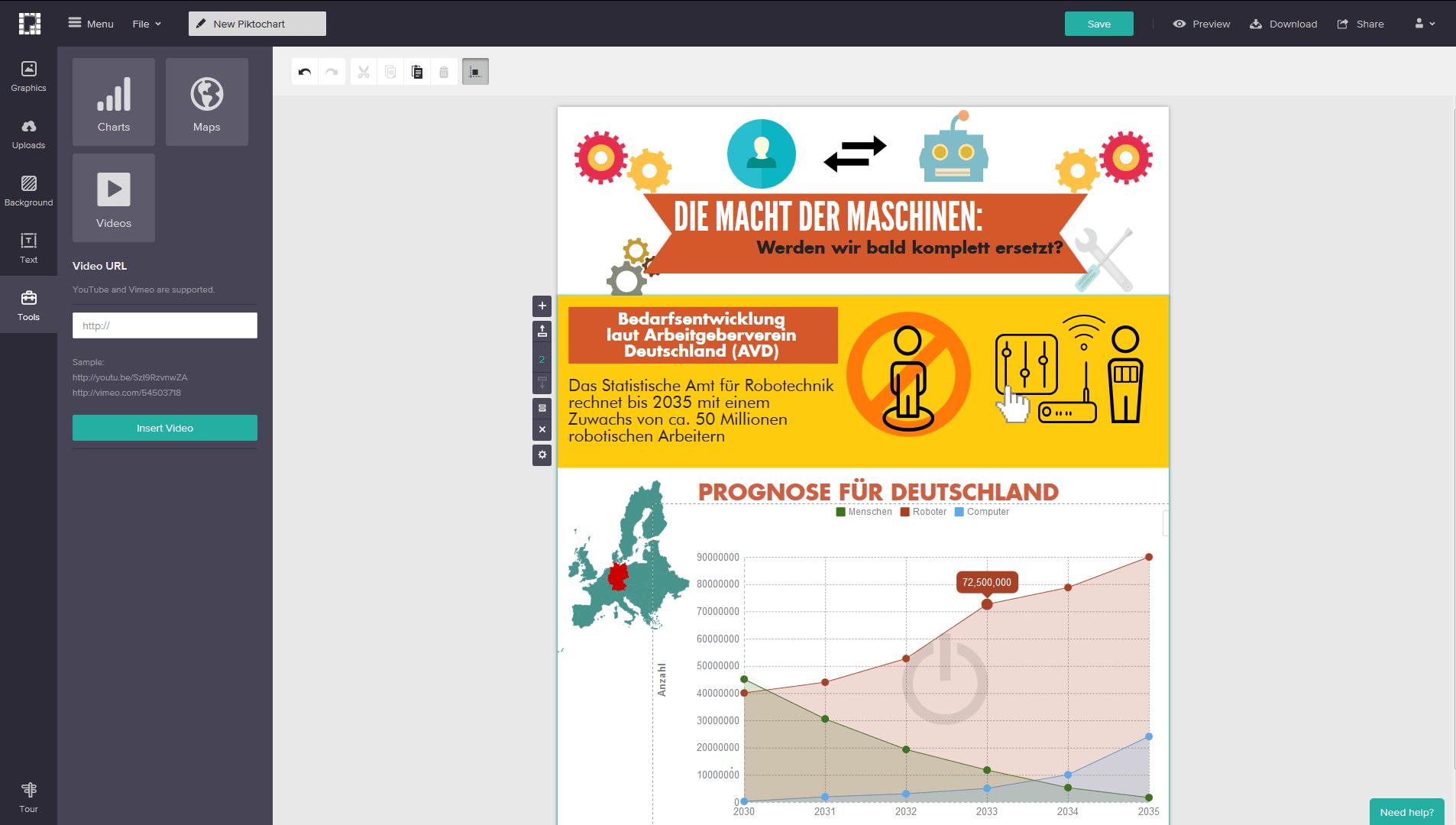 Infografiken erstellen mit 6 praktischen Online-Tools - 1&1