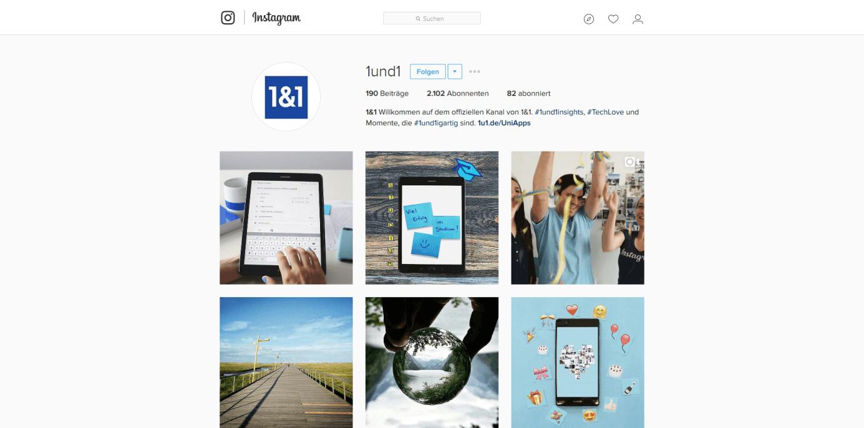 Social-Media-Basics: Instagram für Unternehmen - 1&1