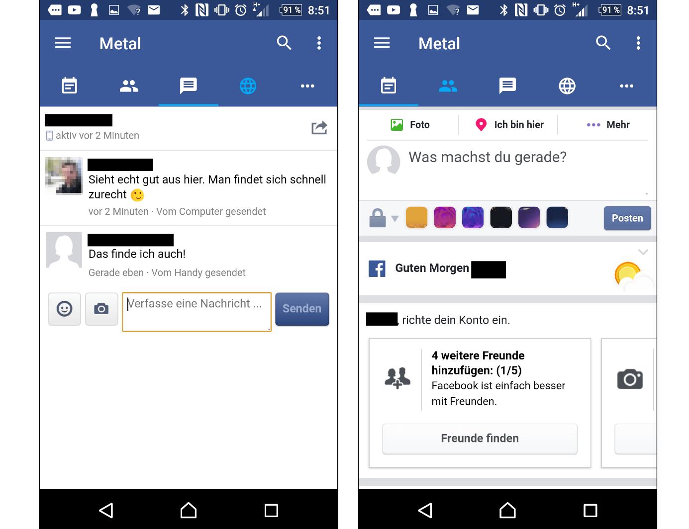 An nicht kommen facebook nachrichten messenger SMS kommen
