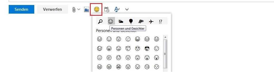 Outlook hoch sonderzeichen daumen Tastenkombinationen für