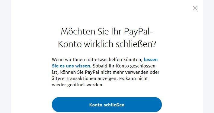 Konto Bei Paypal Löschen