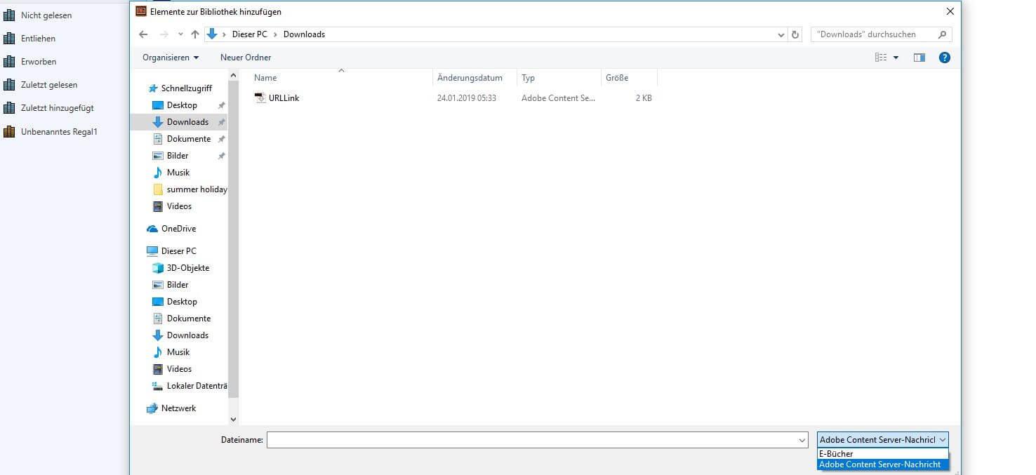 Acsm Datei öffnen