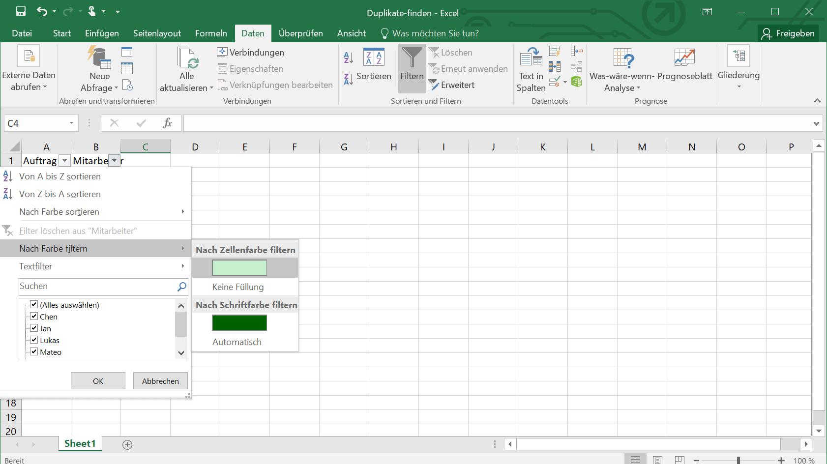 Excel Duplikate anzeigen Markierung doppelter Werte   IONOS