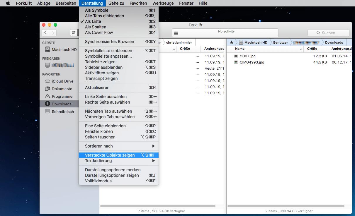 Versteckte Dateien Anzeigen Mac