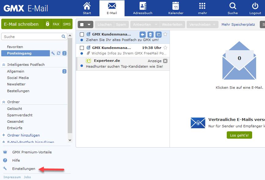 App vorgeschlagene email adressen löschen gmx Gmx vorschlagsliste