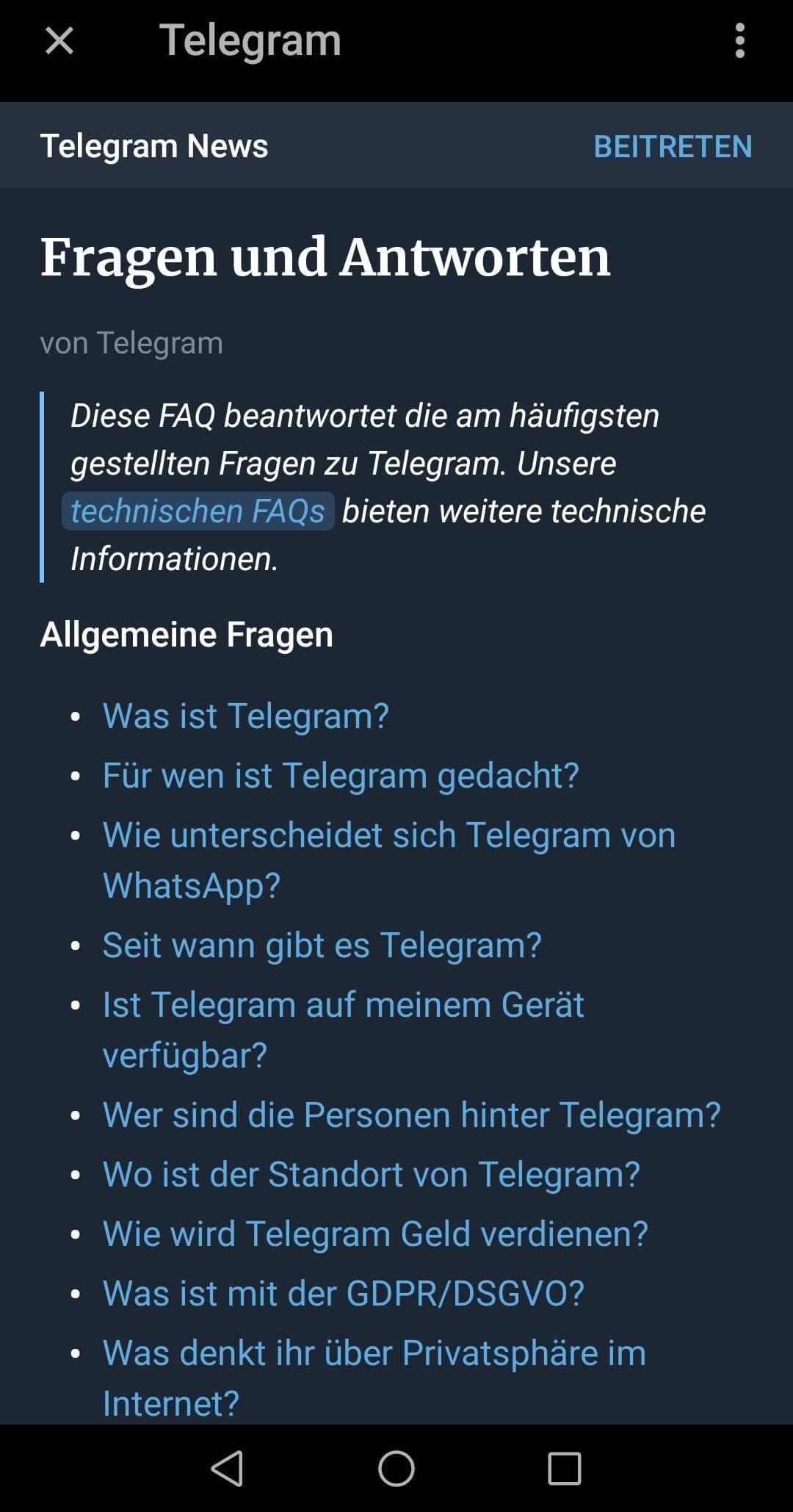 Gelöscht wiederherstellen verlauf telegram Telegram geheimer