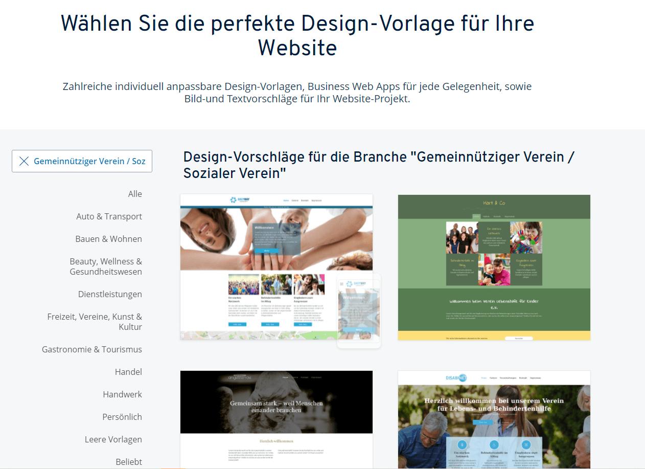 """IONOS-Designvorlagen für den Bereich """"Kindergarten"""