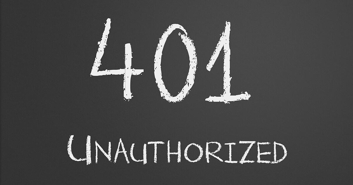 HTTP Error 401 (Unauthorized): So beheben Sie den Fehler - 1&1