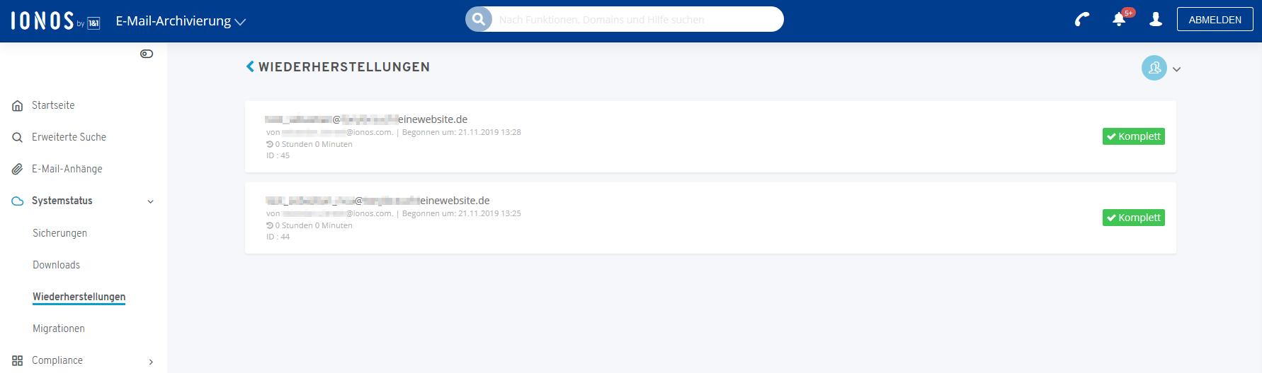 Wiederherstellen anhänge gelöschte gmx e-mail Dateianhänge