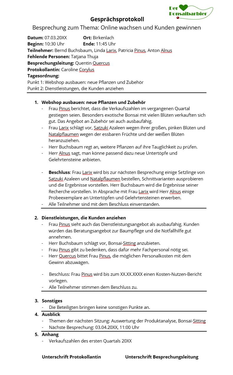 So Schreibt Man Ein Gesprächsprotokoll Beispiele Und Tipps 11 Ionos